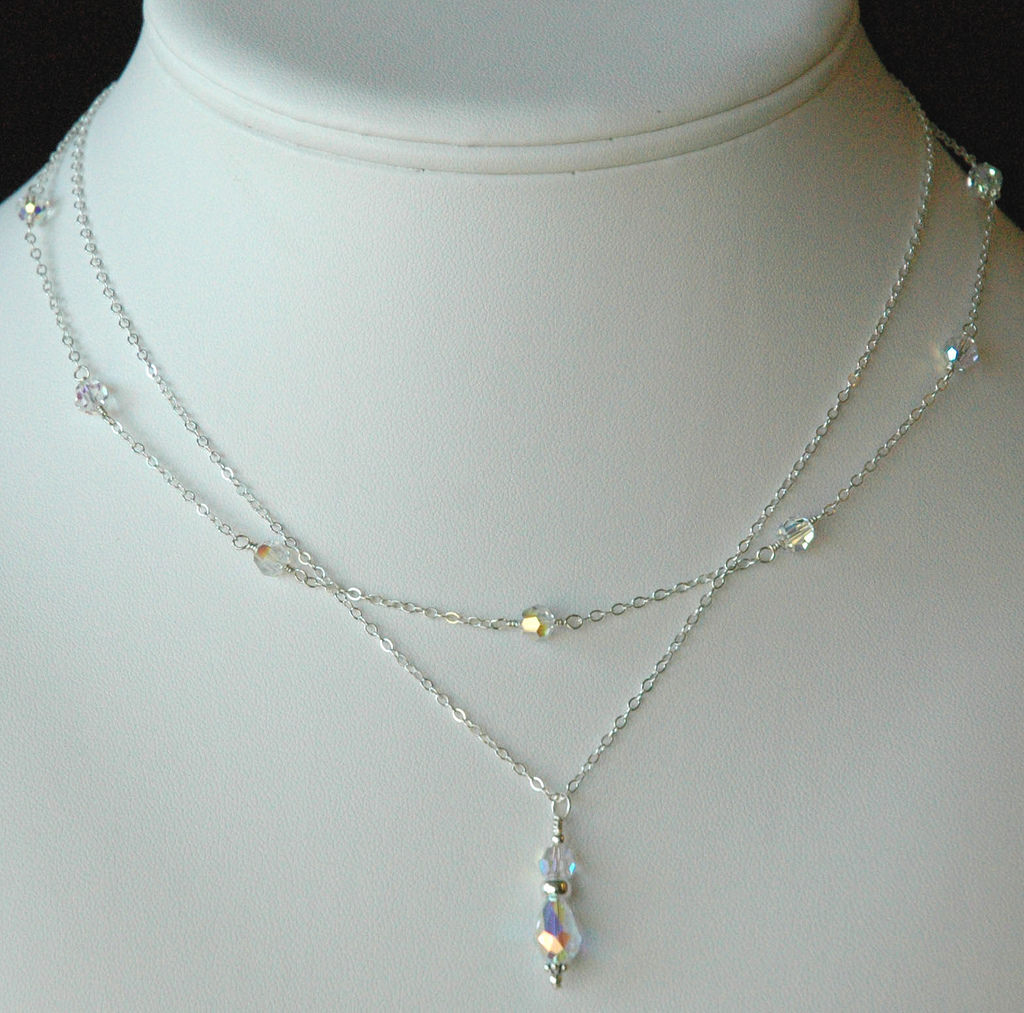 Simple Silver Prom Necklace