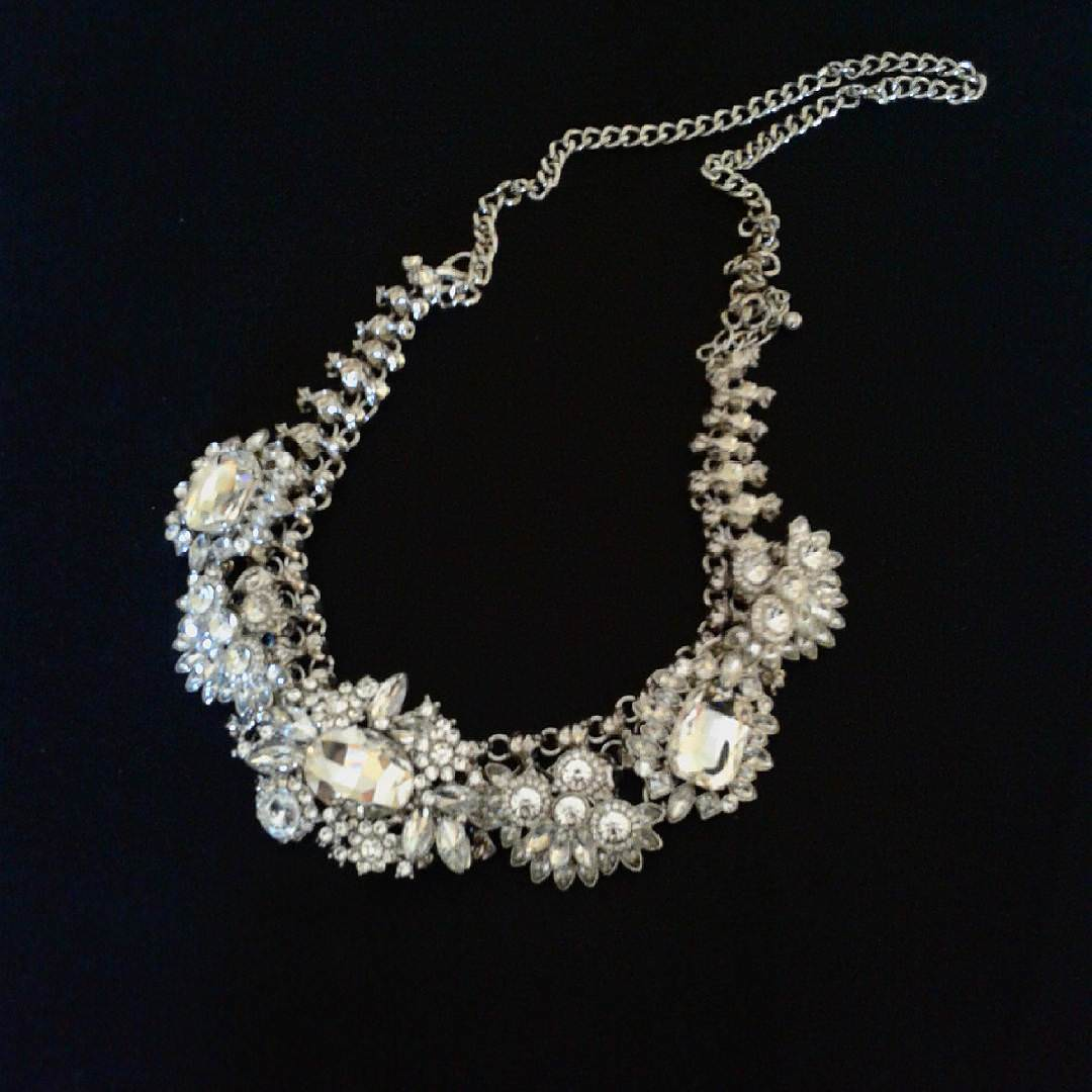 Antique Crystal Prom Necklace