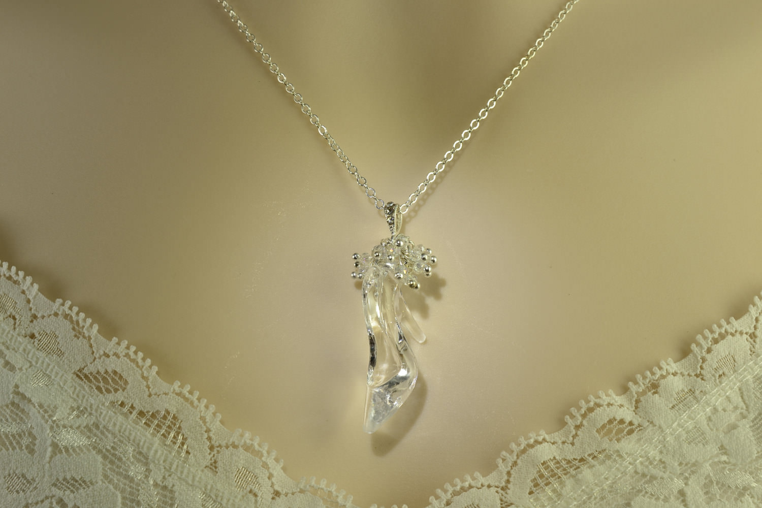 Stylish Crystal Cinderella Prom Necklace