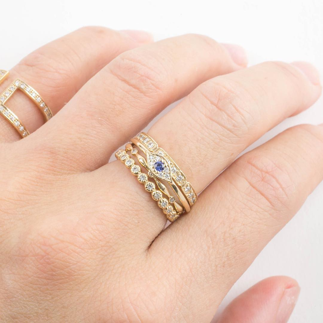 Evil Eye Stack Rings