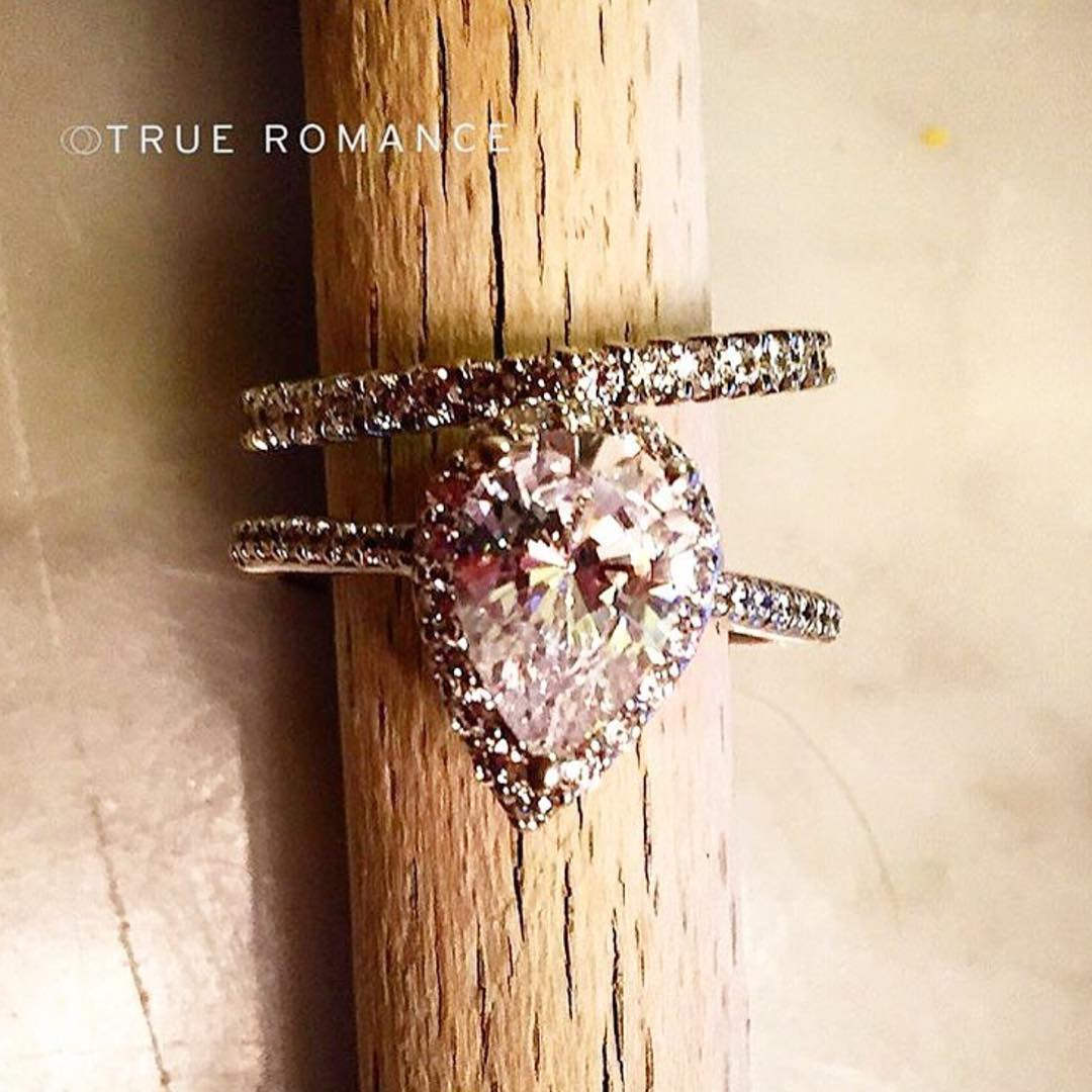 awesome pink diamond engagement ring