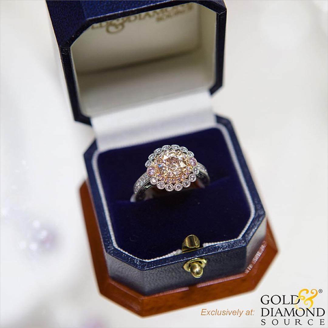 lovely pink diamond engagement ring