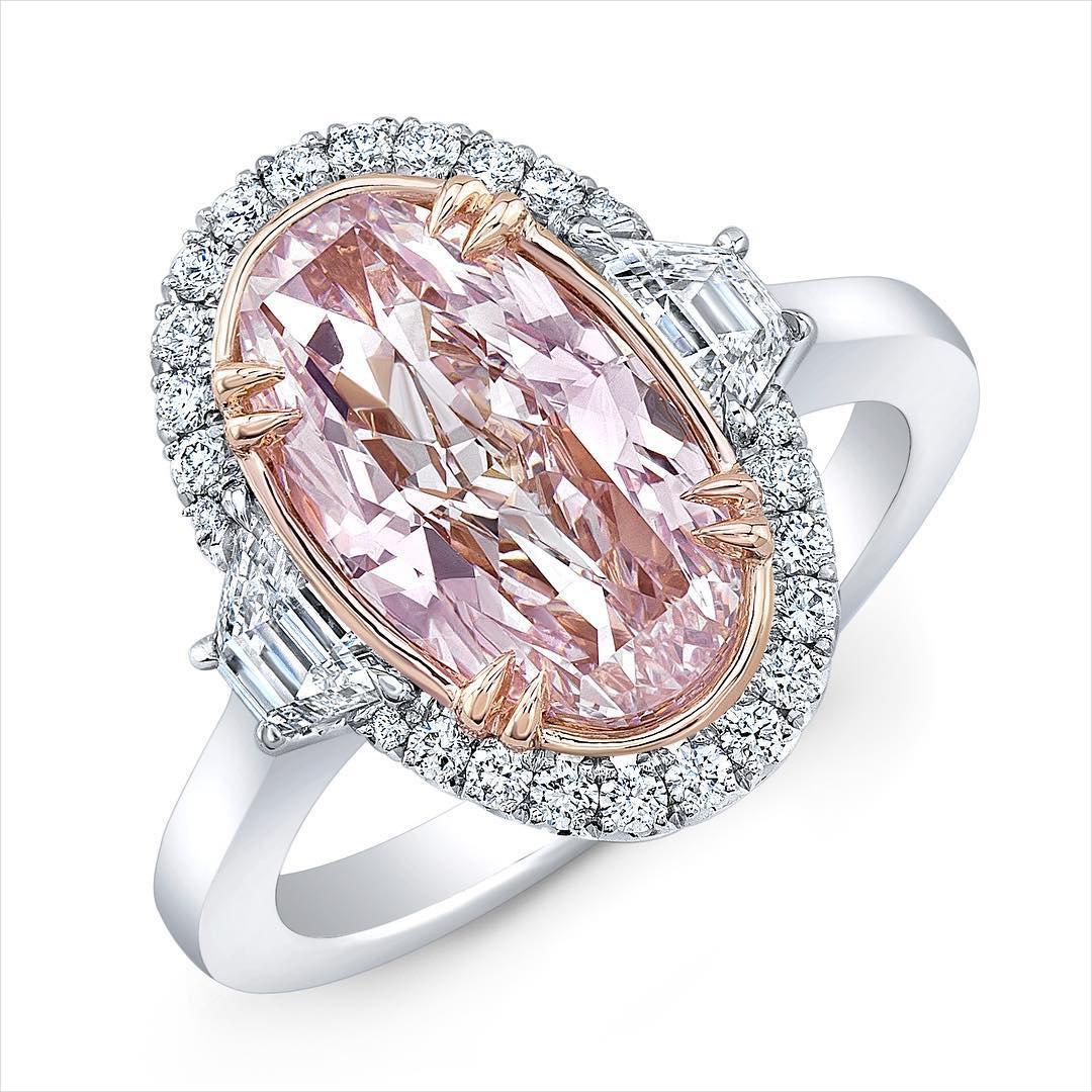 Elegant Pink Diamond Engagement Ring