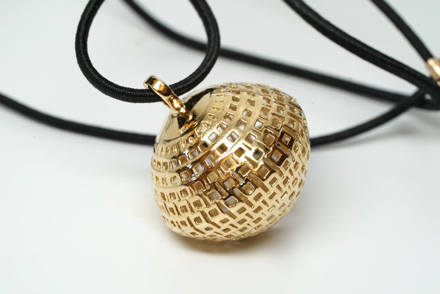 Round Gold Plated Brass Pendant Tribal Jewelry