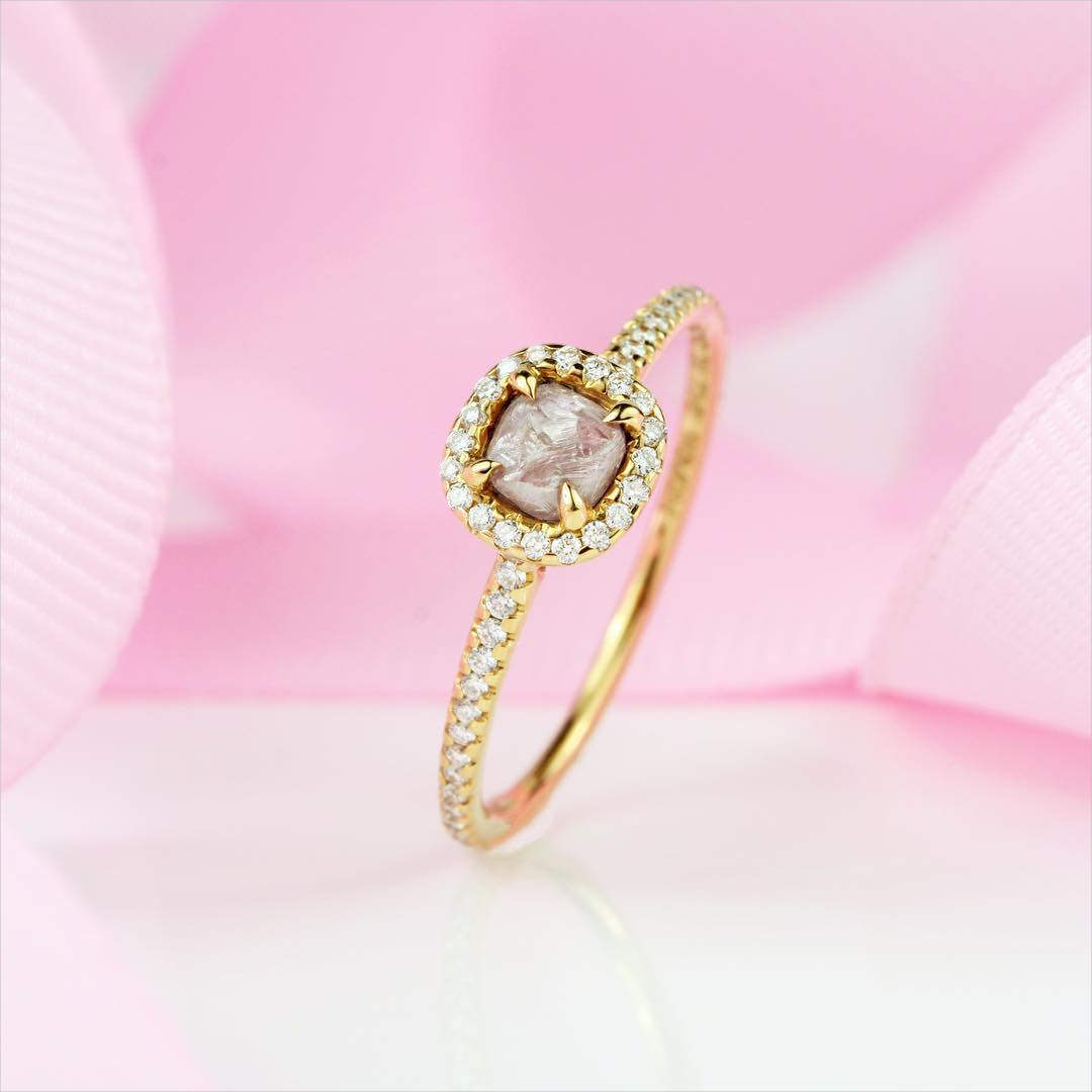 24+ Pink Diamond Engagement Ring Designs, Models, Trends | Design ...