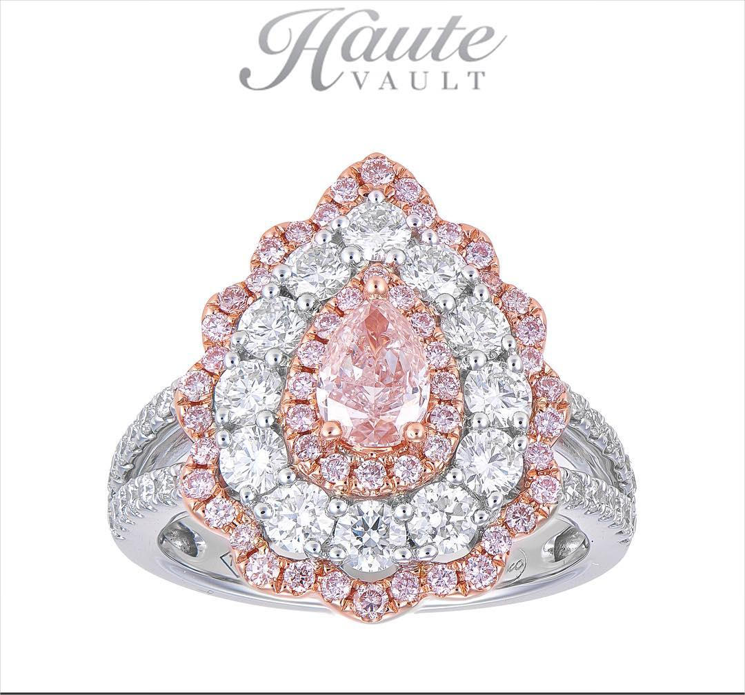 new arrival pink diamond engagement ring