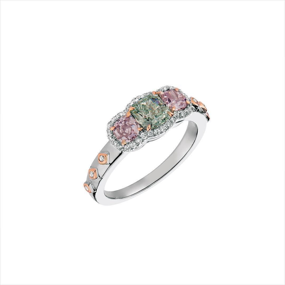 Amazing Pink Diamond Engagement Ring