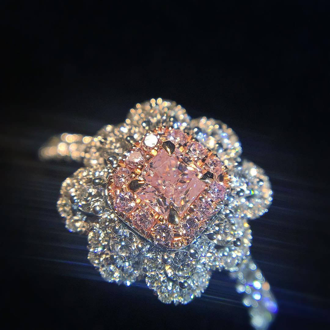 best pink diamond engagement ring