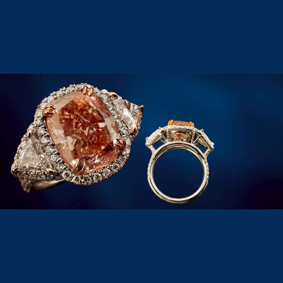 top fine pink diamond engagement ring