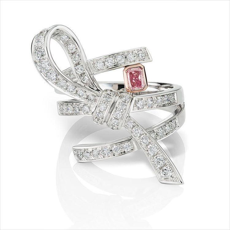 Romantic Pink Diamond Engagement Ring