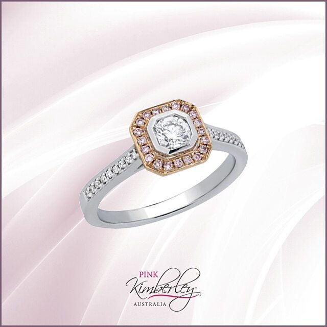 traditional pink diamond engagement ring