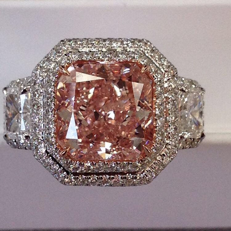 pink diamond engagement ring for special ones