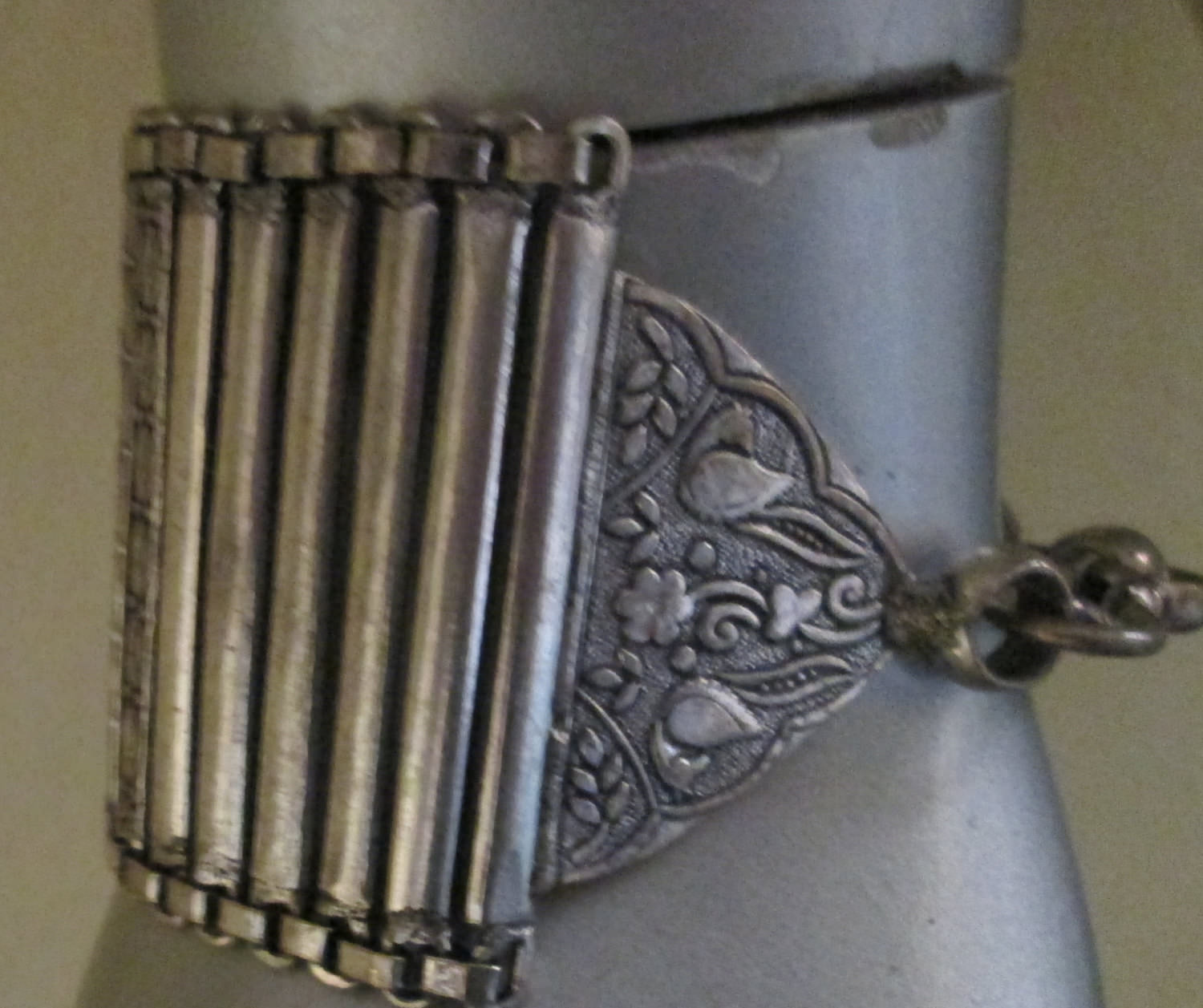 Gorgeous Silver Warp Braclet Tribal Jewelry