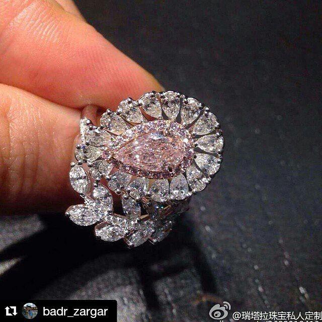 Luxury Pink Diamond Engagement Ring