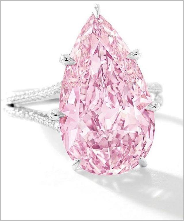 Beautiful Pink Diamond Engagement Ring