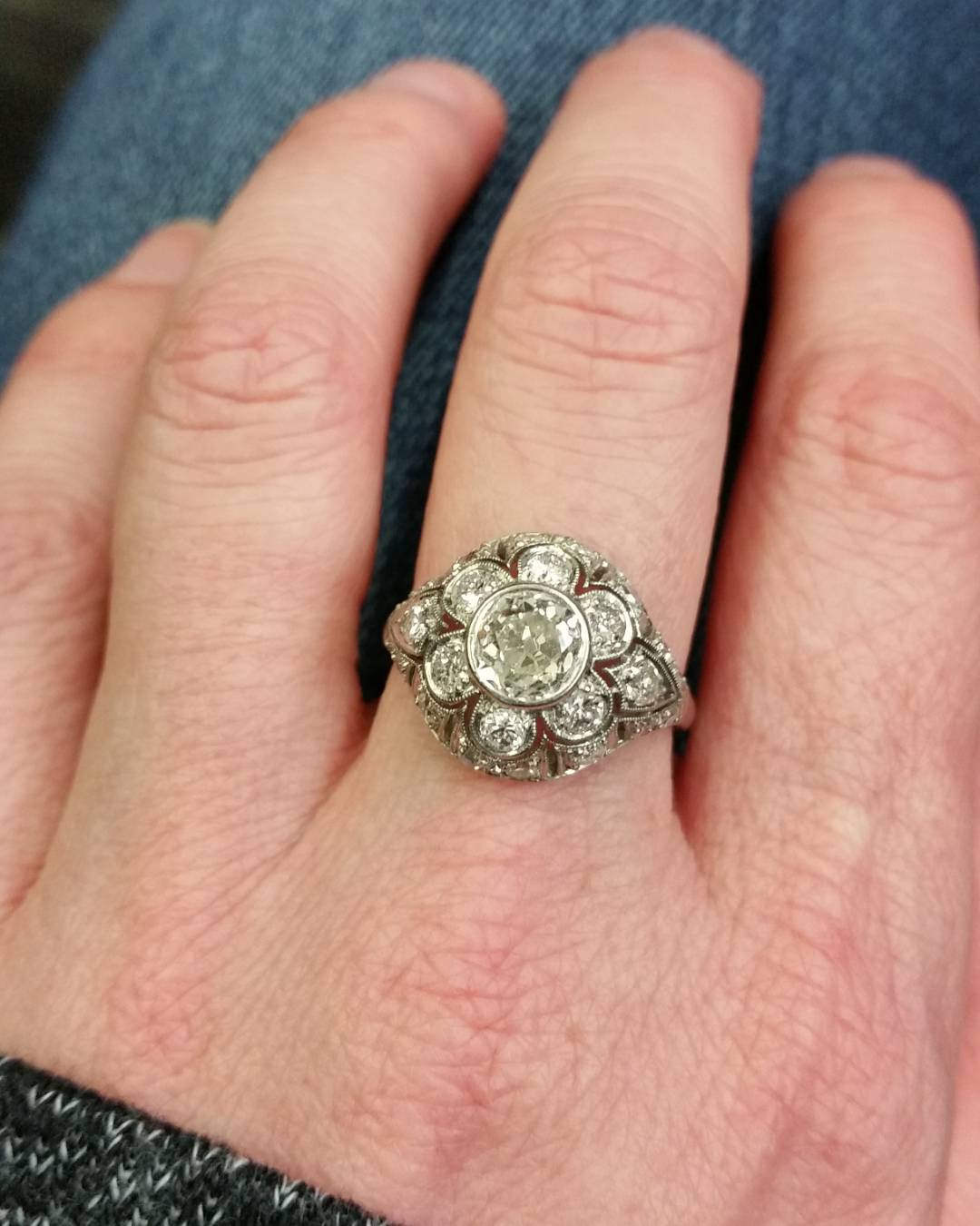 complete flower design ring