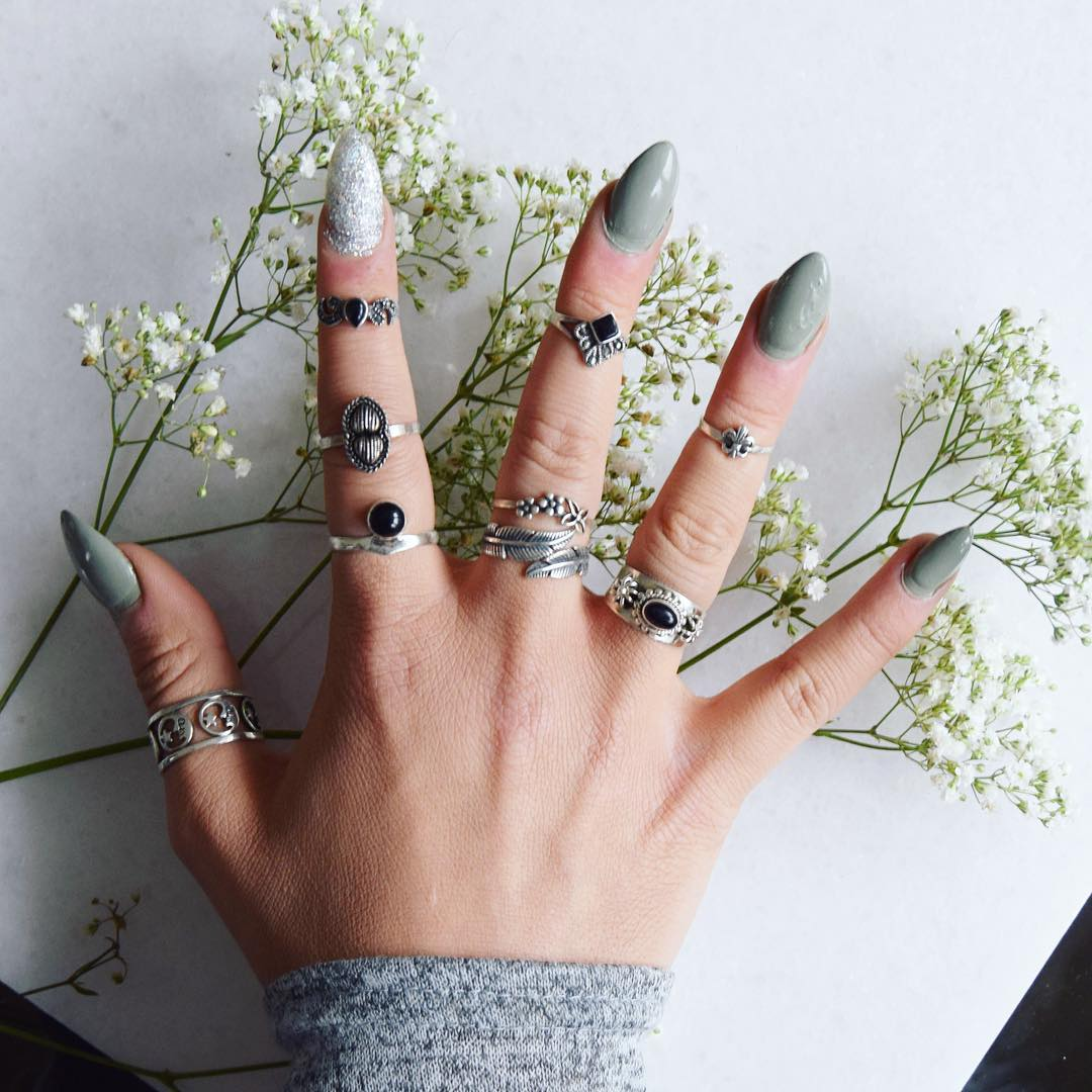Awesome Collection of Sliver palted Tribal rings