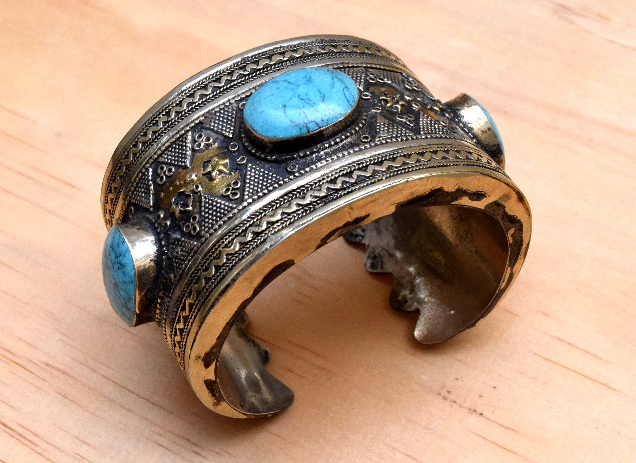 Stunning Carved Tribal Bracelet