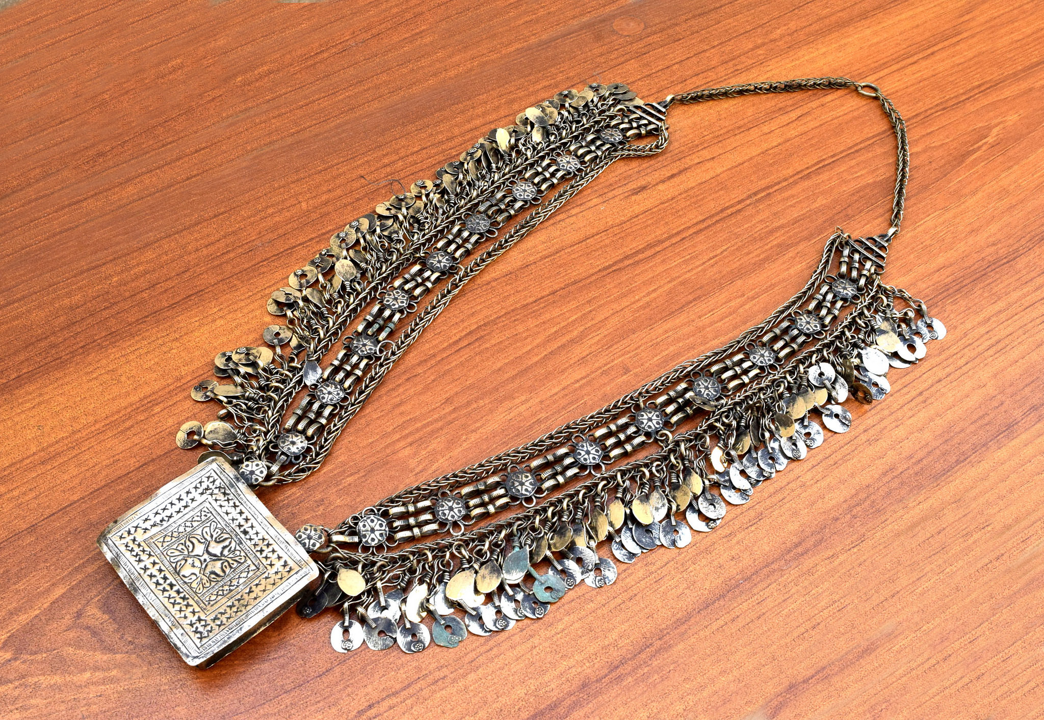 Pretty Chained Ethnic Necklace Tribal Jewelry