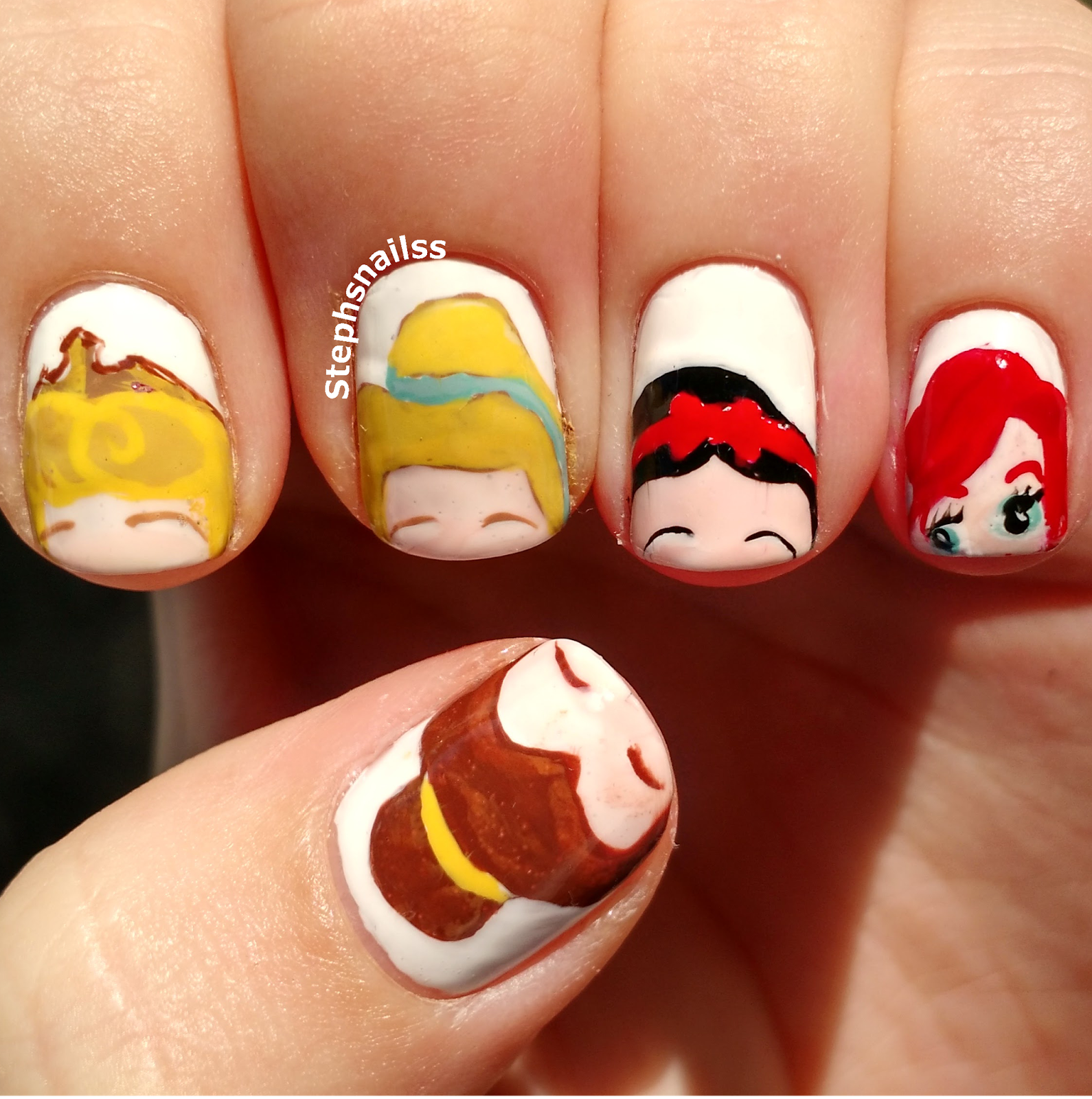 Disney Nail Art: 26+ Disney Nail Art Designs, Ideas