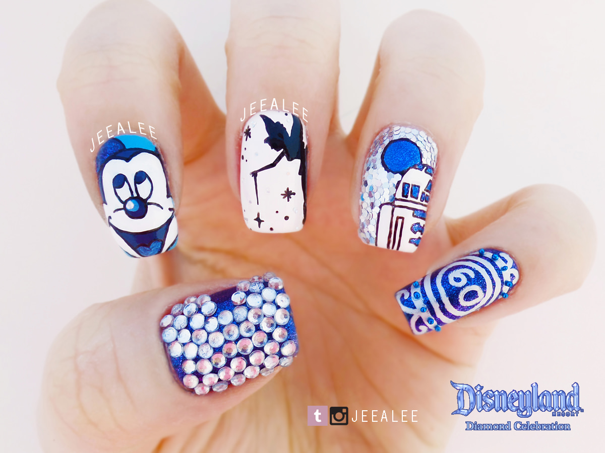 Disneyland 60th Anniversary Nails