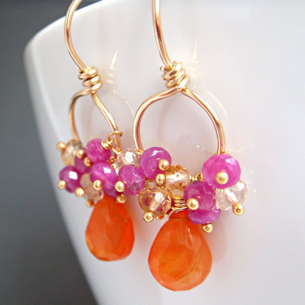 Lovely Fruit Punch Tropical Earrings