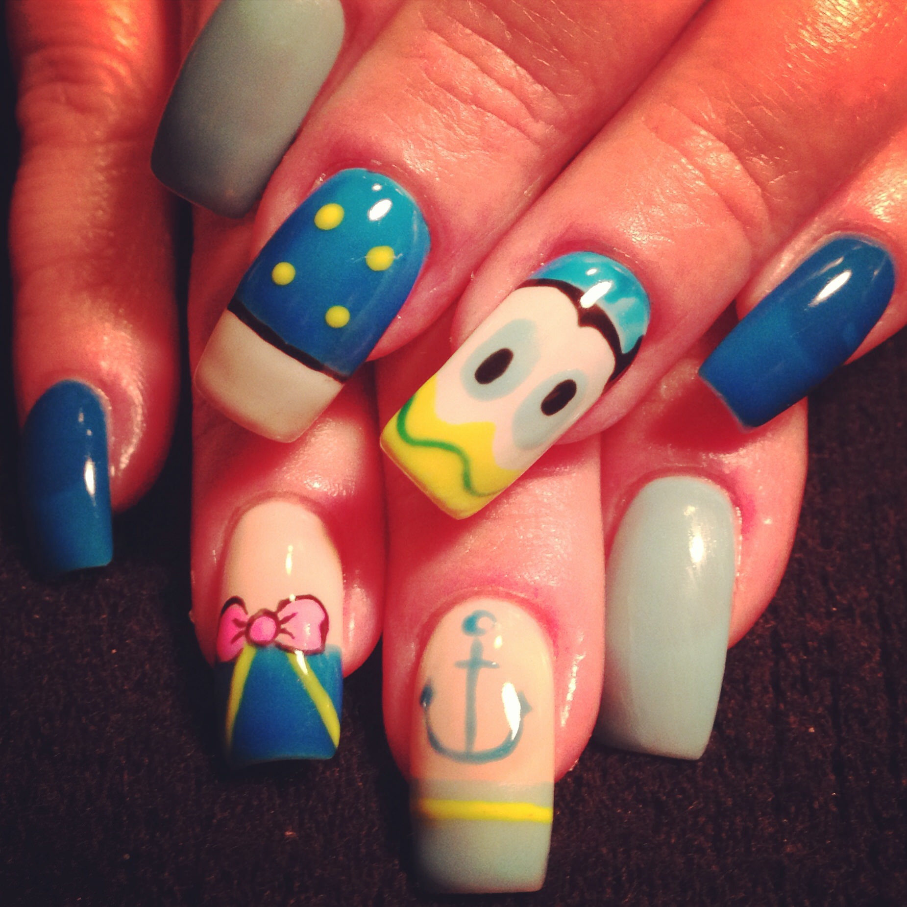 Donald Duck on Nails