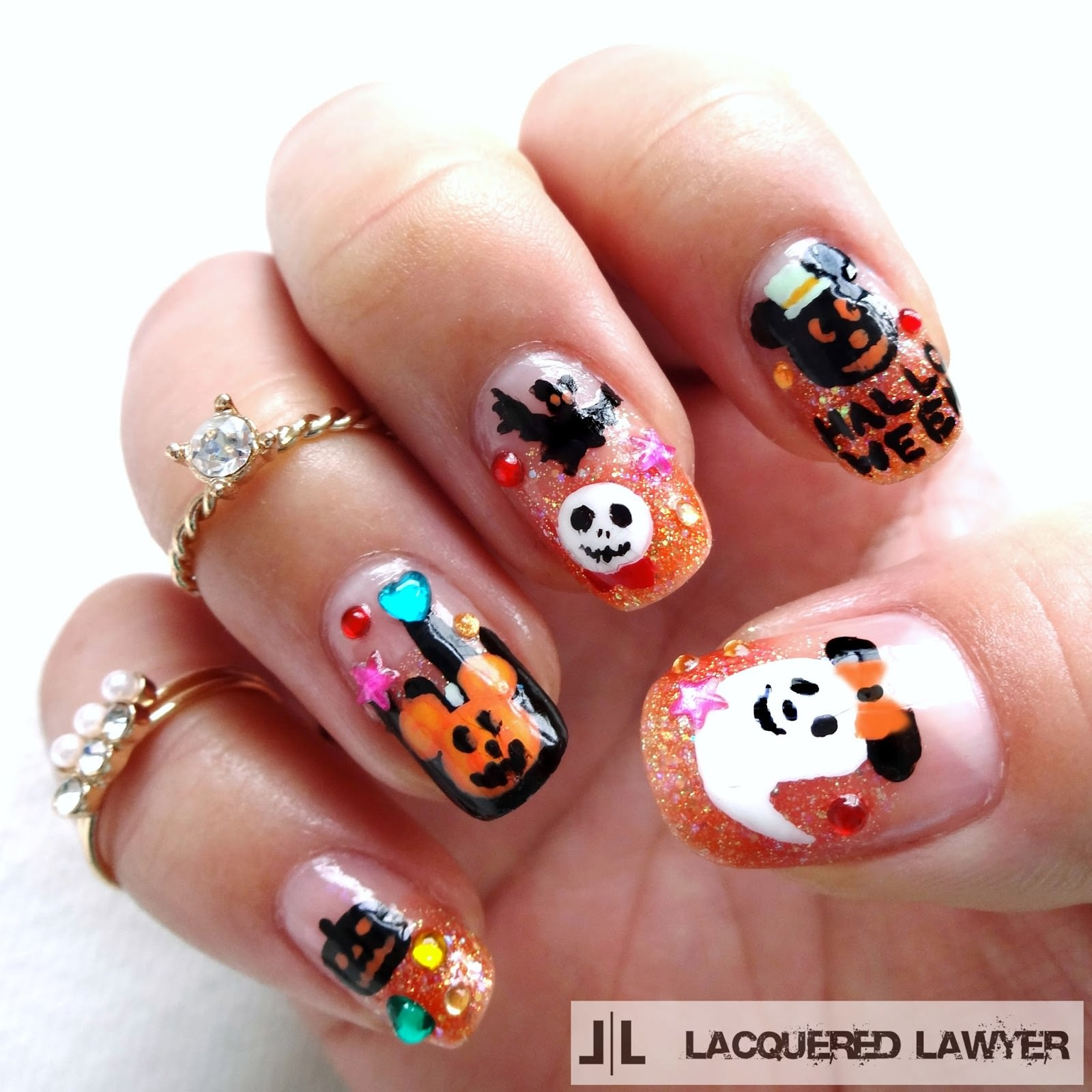 Halloween Nail Art: 26+ Disney Nail Art Designs, Ideas