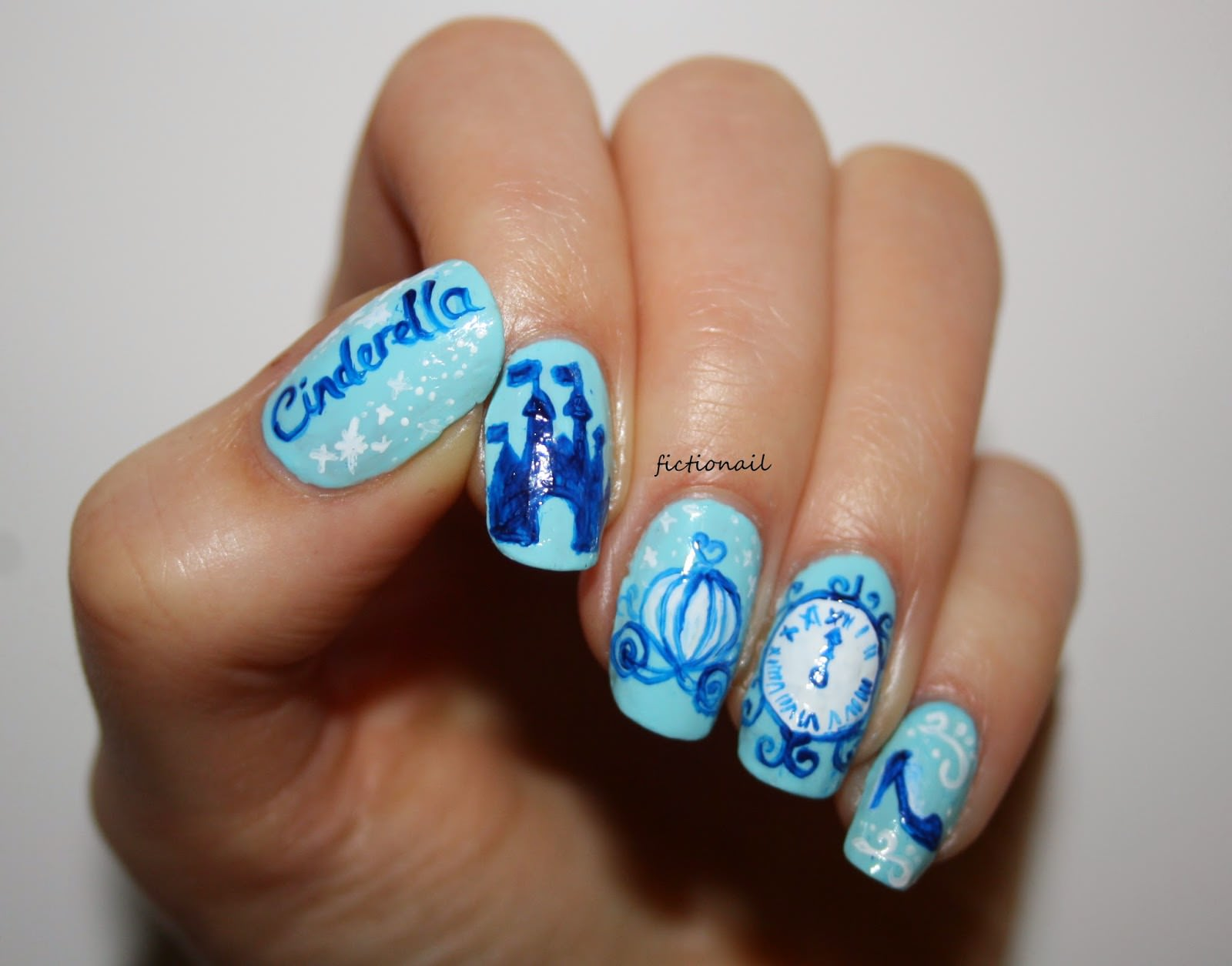 Disney Cinderella Nails