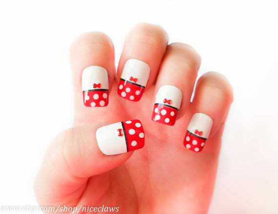 Minnie or polka Dots Nails