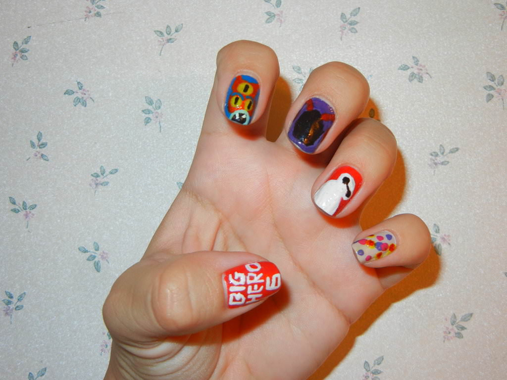 Big Hero 6 Disney Nails