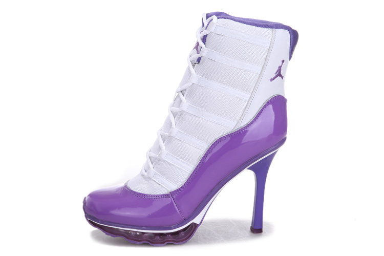 White Purple High Heels