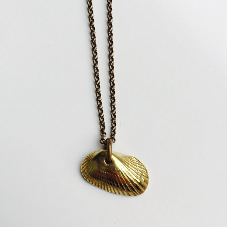 Cool Brass Shell Necklace
