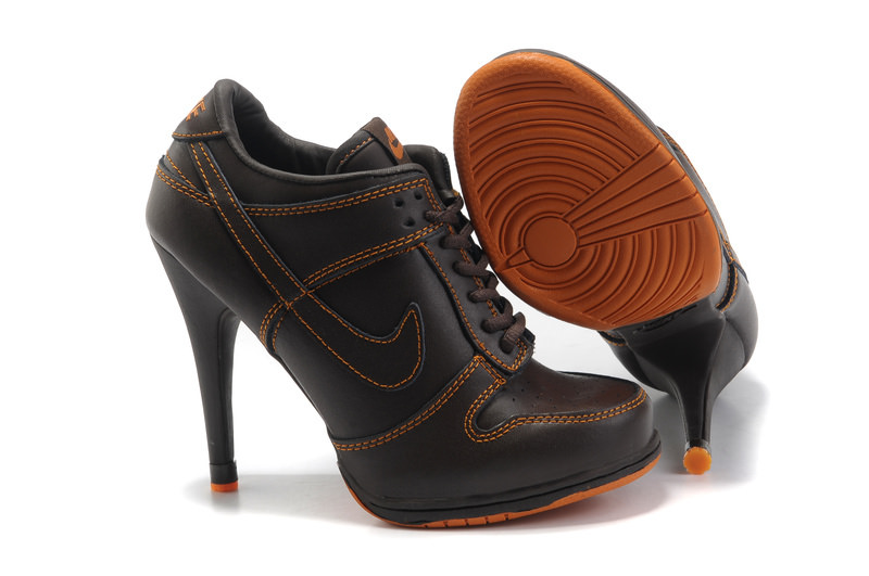 Brown Orange High Heels