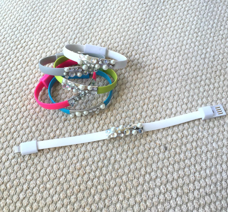 amazing usb charger bracelets set