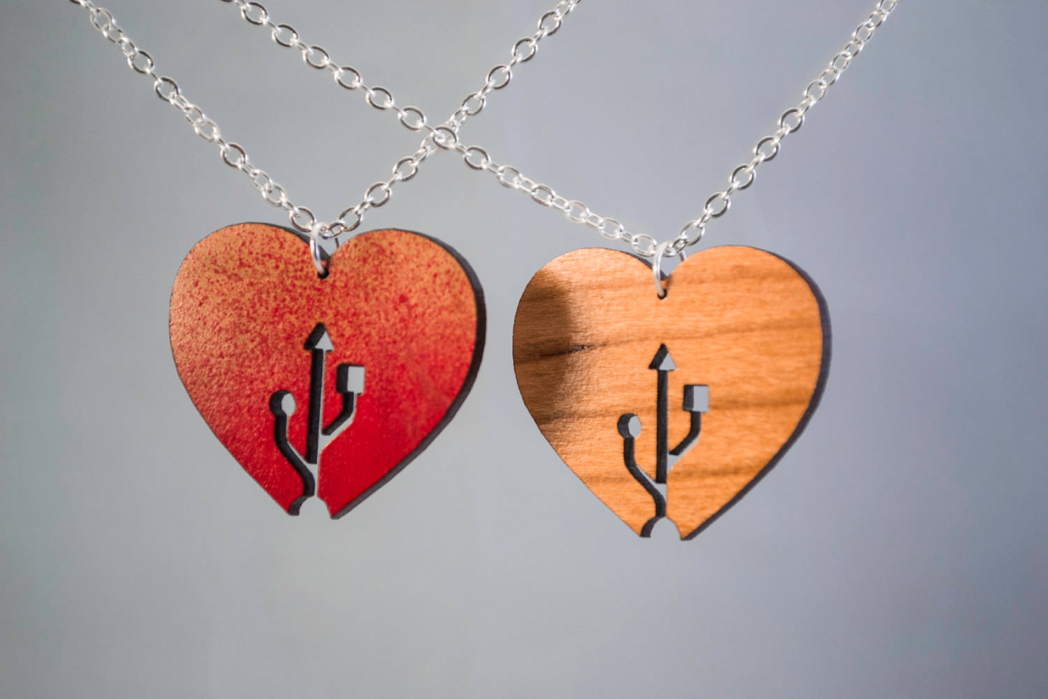 USD Sign Heart Shape Pendant