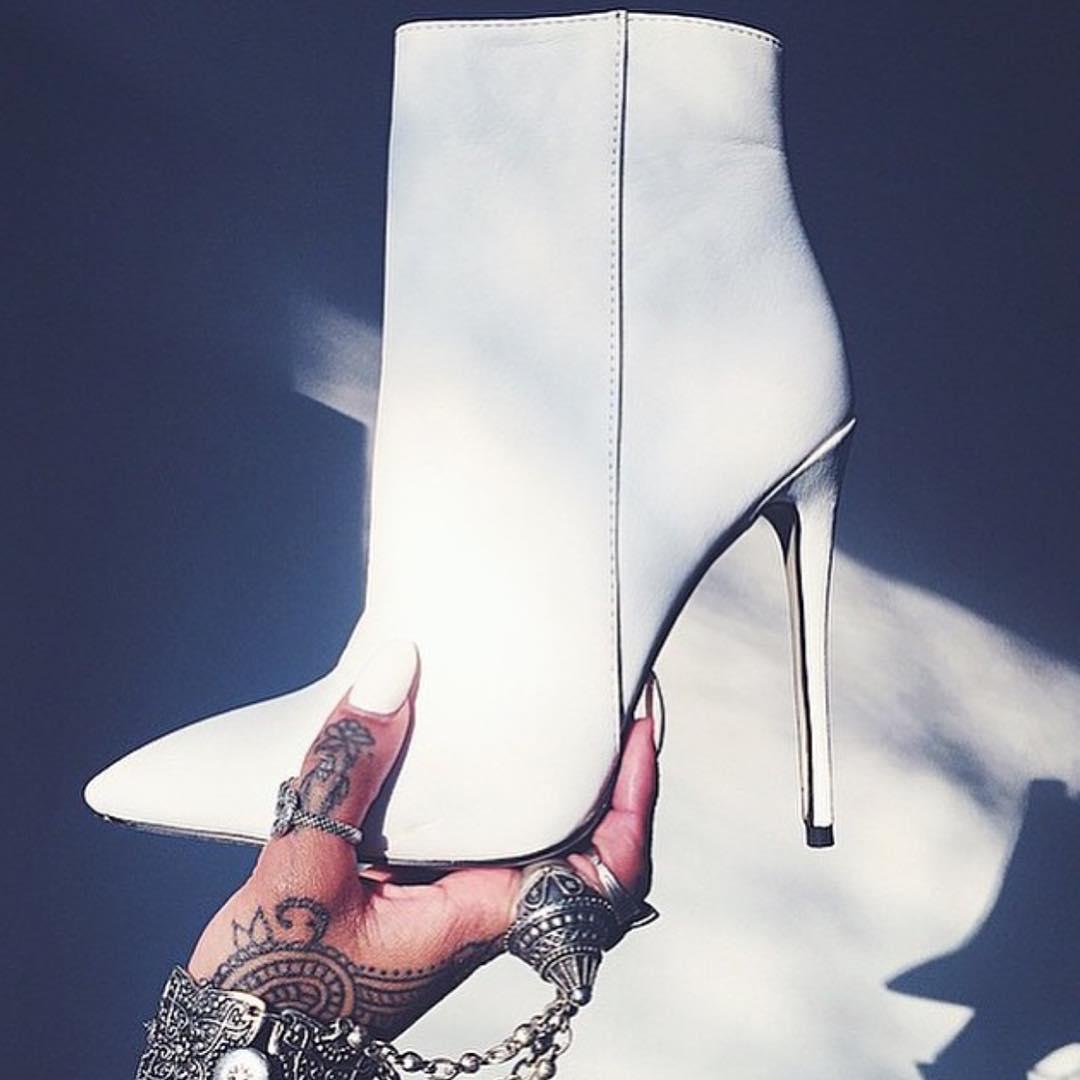 white classy high heel