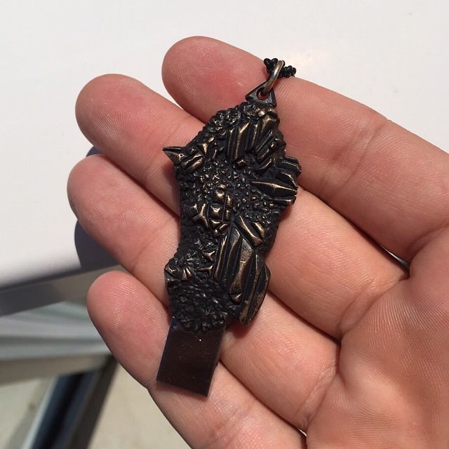 Black Metalic USB Necklace