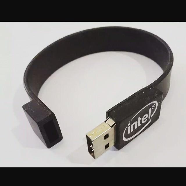 classic silicon usb bracelet