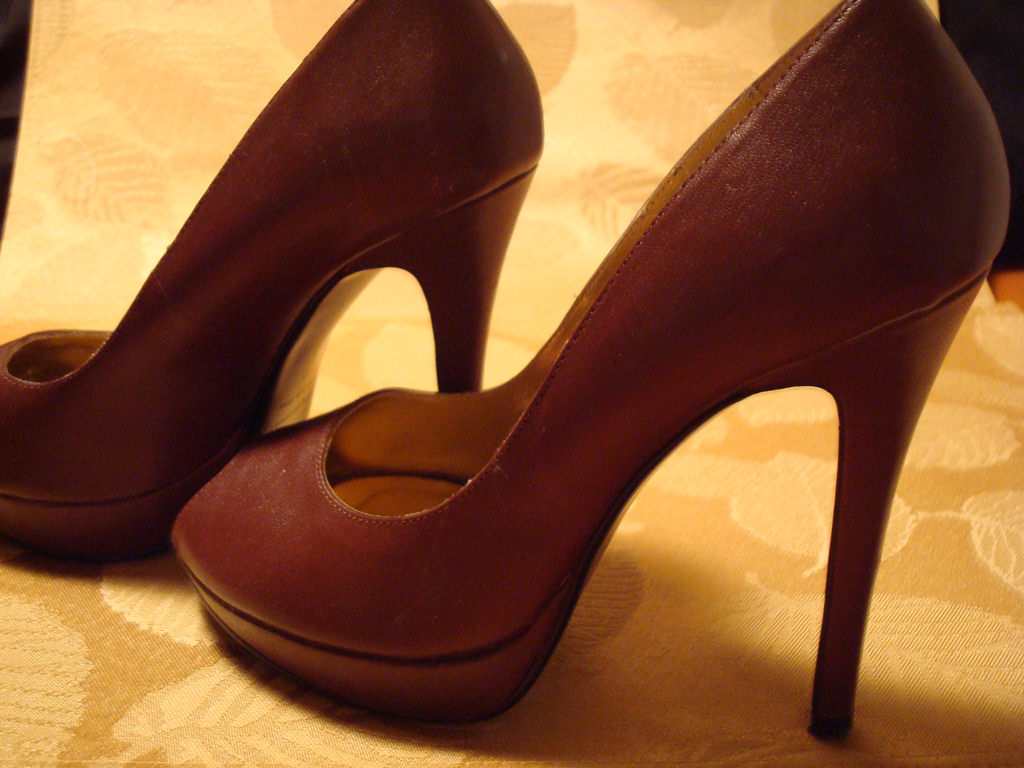 Brown High Heel Shoes