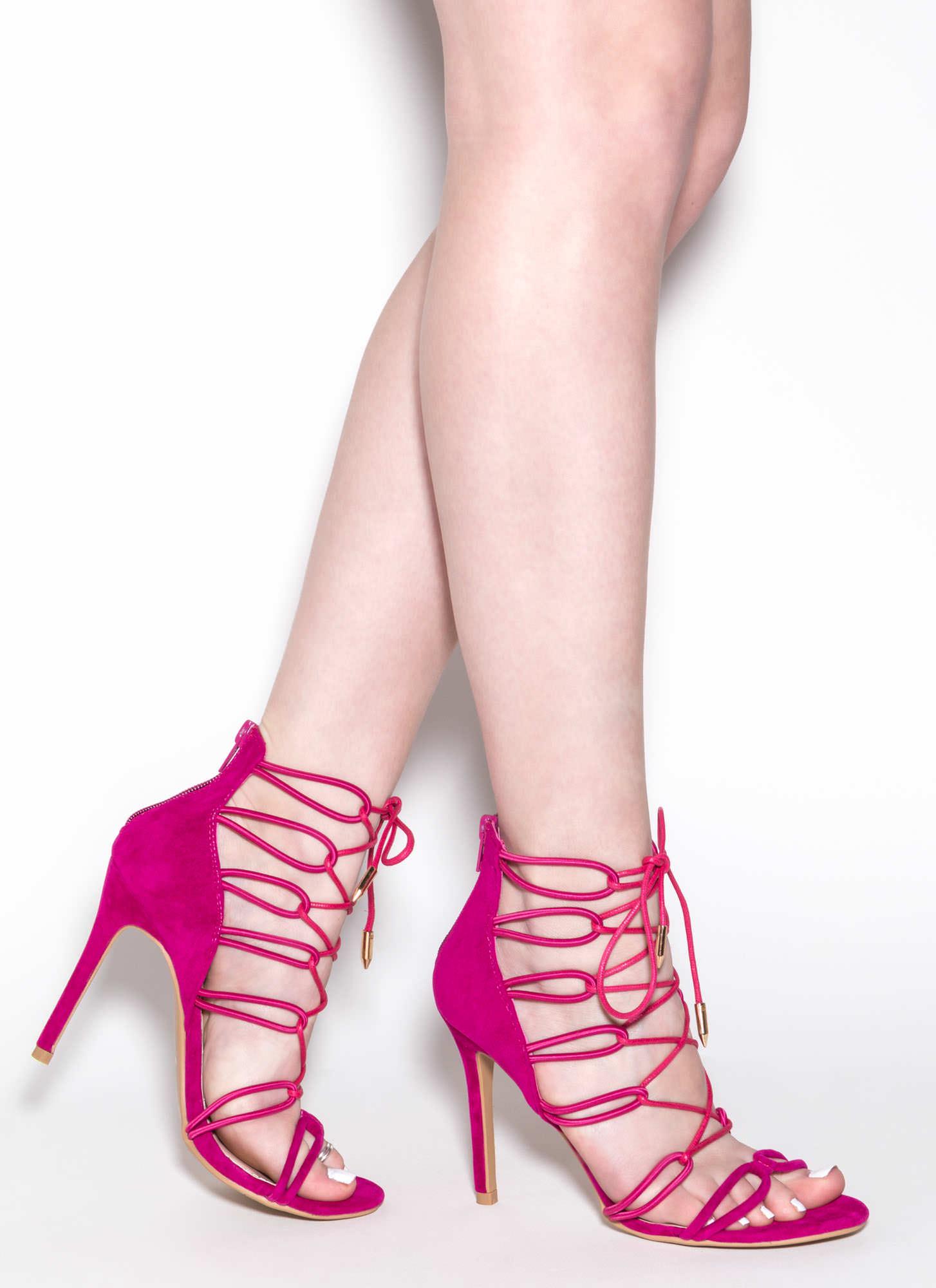 Cameo Appearance Velvet Heels