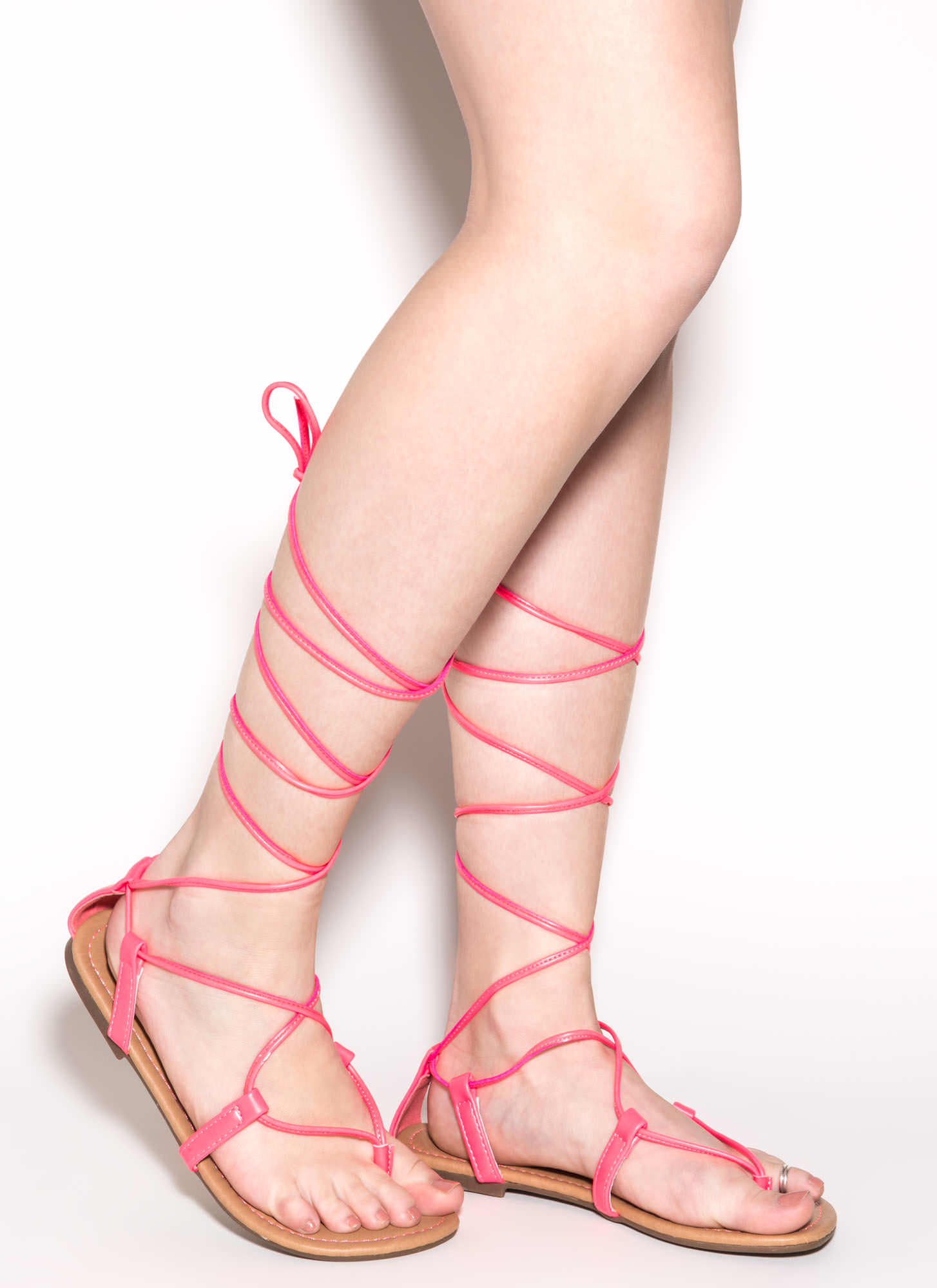 Break The Tie Strappy Lace up Sandals