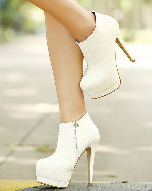 High White Heel Shoe