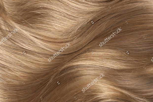 Wavy blonde human hair