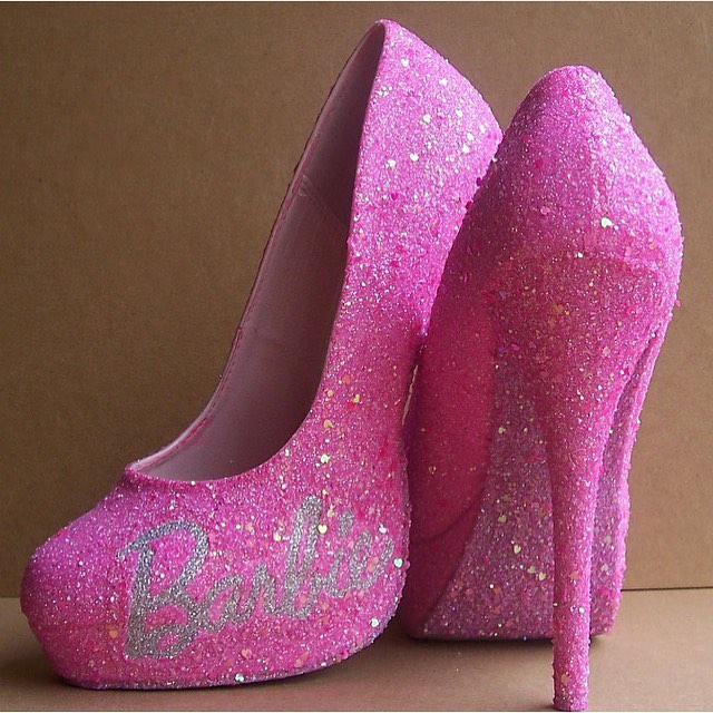 barbie pink high heels