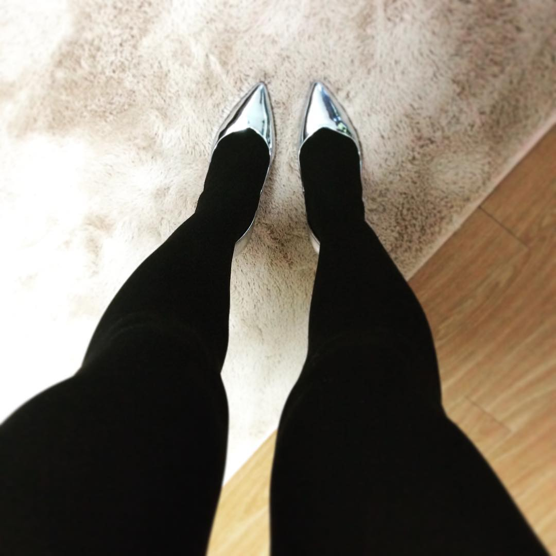 Beautiful silver High Heels