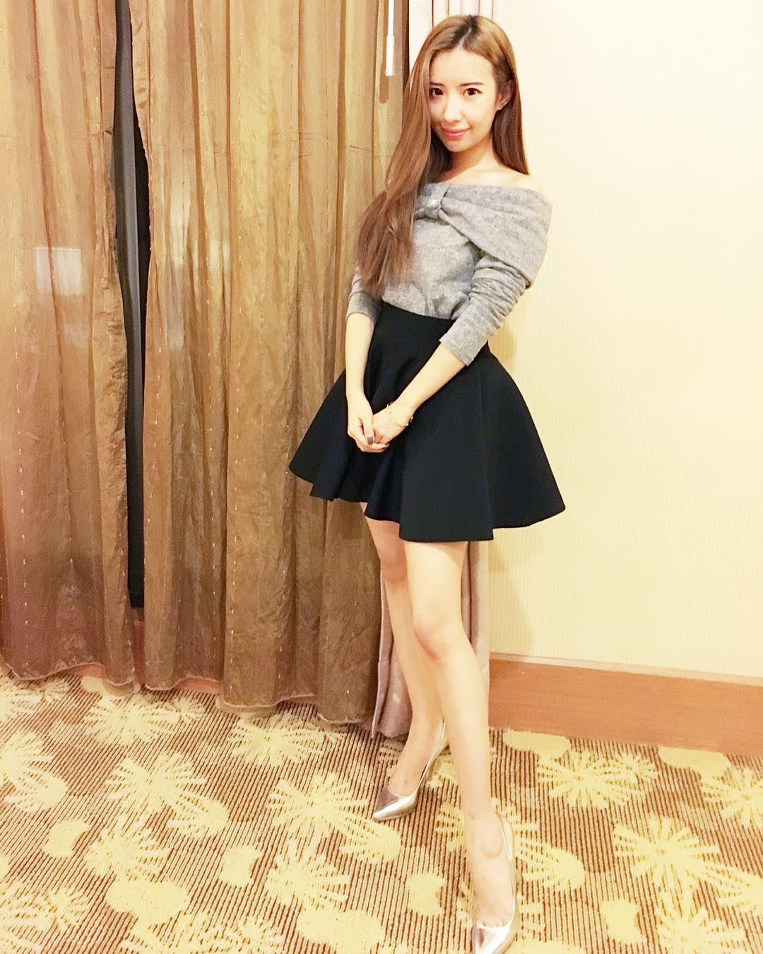 trendy silver high heels