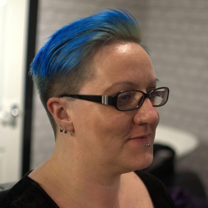Funky Fade Haircut for Women
