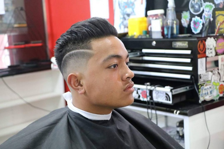 side shaved fade haircut design