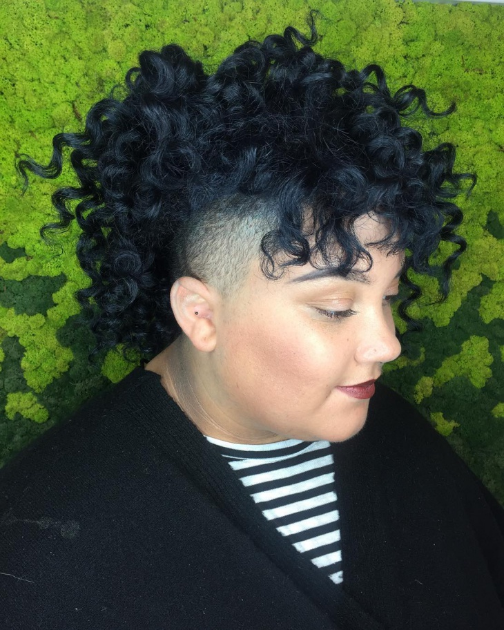 curly fade haircut for women